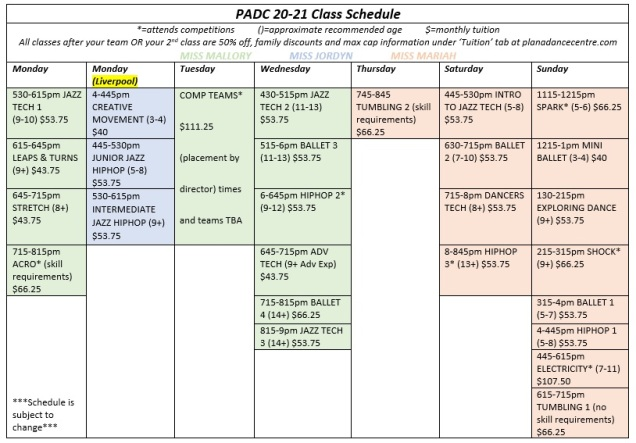 Final Sched w prices